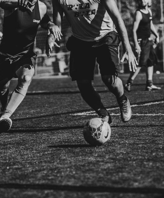 alongamento no futebol
